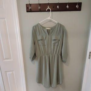 Monteau shirt style dress, sage green